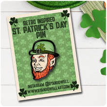 Load image into Gallery viewer, Smiling Leprechaun St. Patrick's Day Lapel Pin