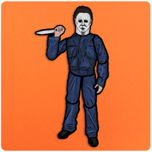 Load image into Gallery viewer, Large Retro Style Jointed Halloween Michael Myers Cutout Decoration