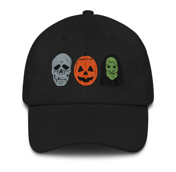 Halloween III Silver Shamrock Mask Heads Embroidered Hat