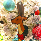 Vintage Inspired Blowmold Reindeer Christmas Tree Ornament