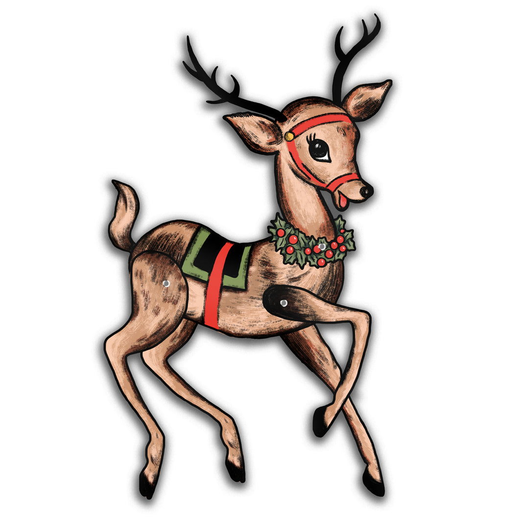 Jointed Reindeer Christmas Cutout Decoration
