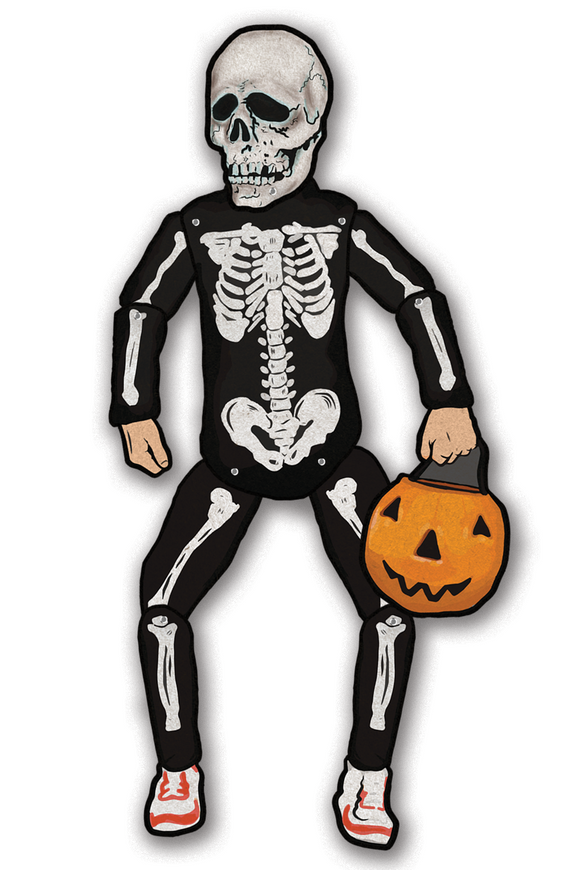 Halloween III Silver Shamrock Skeleton Trick or Treater Deluxe Jointed Cutout Decoration