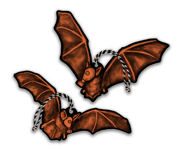 Halloween Large Ornament Set of 2 - Quarantine Bats