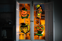 Load image into Gallery viewer, Set of 4 Illuminated Halloween Blowmold Cutout Set - Series 2