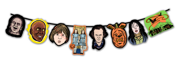 Retro Inspired The Shining Horror Character Cutout Banner