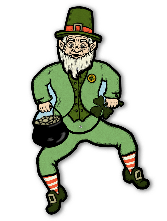 Irish Leprechaun Jointed Dancing Cutout