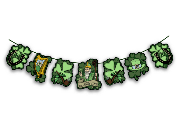 St Patricks Day Traditional Irish Banner