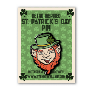 Smilin' Leprechaun Lapel Pin