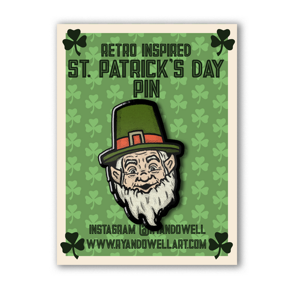 Ye Olde Leprechaun Lapel Pin