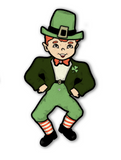 Dancing Irish Lad St. Patrick's Day Jointed Cutout