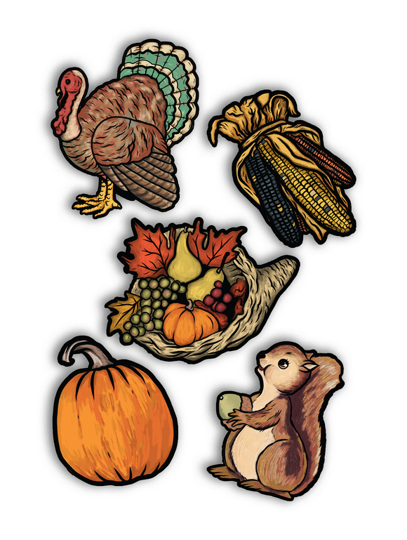 Thanksgiving / Autumn Cutout Art Print Set