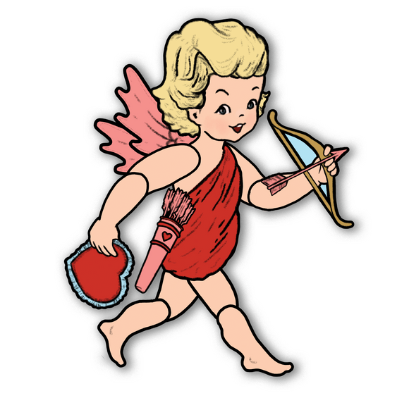 Large Jointed Cupid Cutout Decoration
