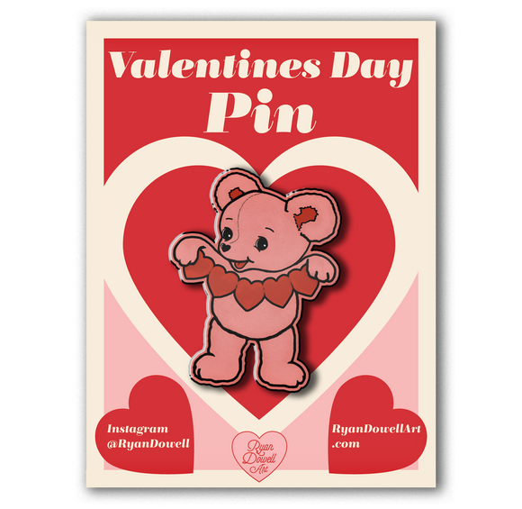 Valentine's Day Cute Teddy Bear Lapel Pin