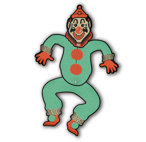 Dancing Halloween Clown Jointed Cutout Decoration