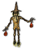 "Deluxe 33"" Jointed Scarecrow Cutout Decoration"