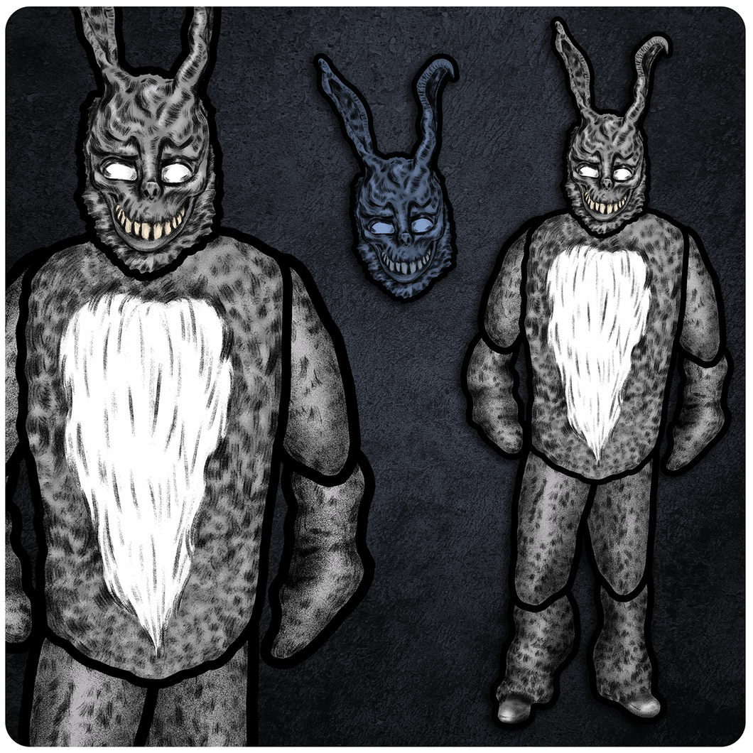 April Horror/Sci-Fi Release - Donnie Darko Frank the Bunny Cutout & Jointed Cutout Set