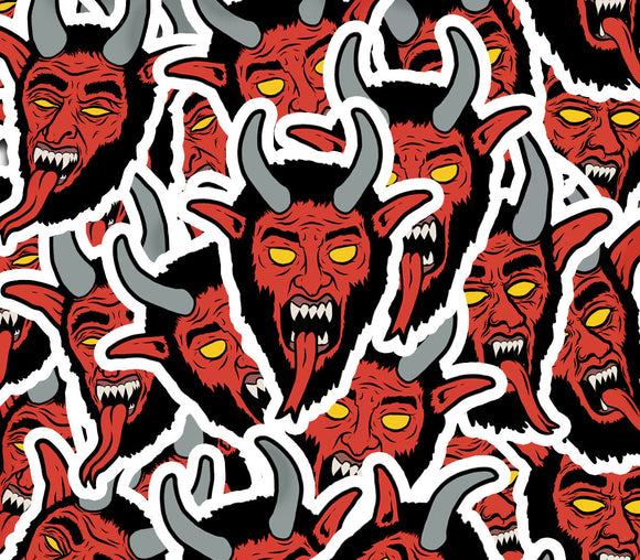 Vintage Inspired Christmas Krampus Stickers