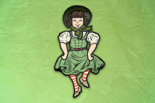 Load image into Gallery viewer, Jointed St Patrick's Day Dancing Irish Girl Cutout Decoration