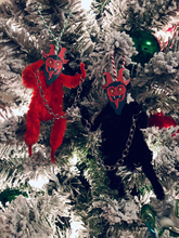 Load image into Gallery viewer, Chenille Stem Krampus Christmas Tree Ornament Sets