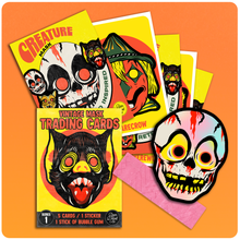Load image into Gallery viewer, Retro Inspired Halloween Mask Wax Pack Trading Card Set