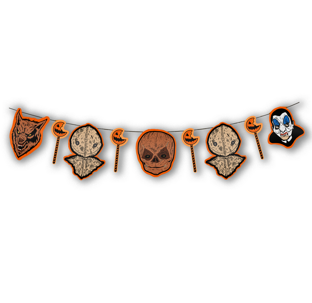 Trick 'r Treat Vintage Inspired Horror Cutout Halloween Hanging Banner