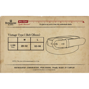 Vintage Type I Belt (35mm) - Silver