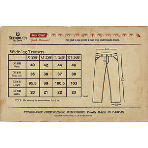 Wide-leg Trousers - Indigo