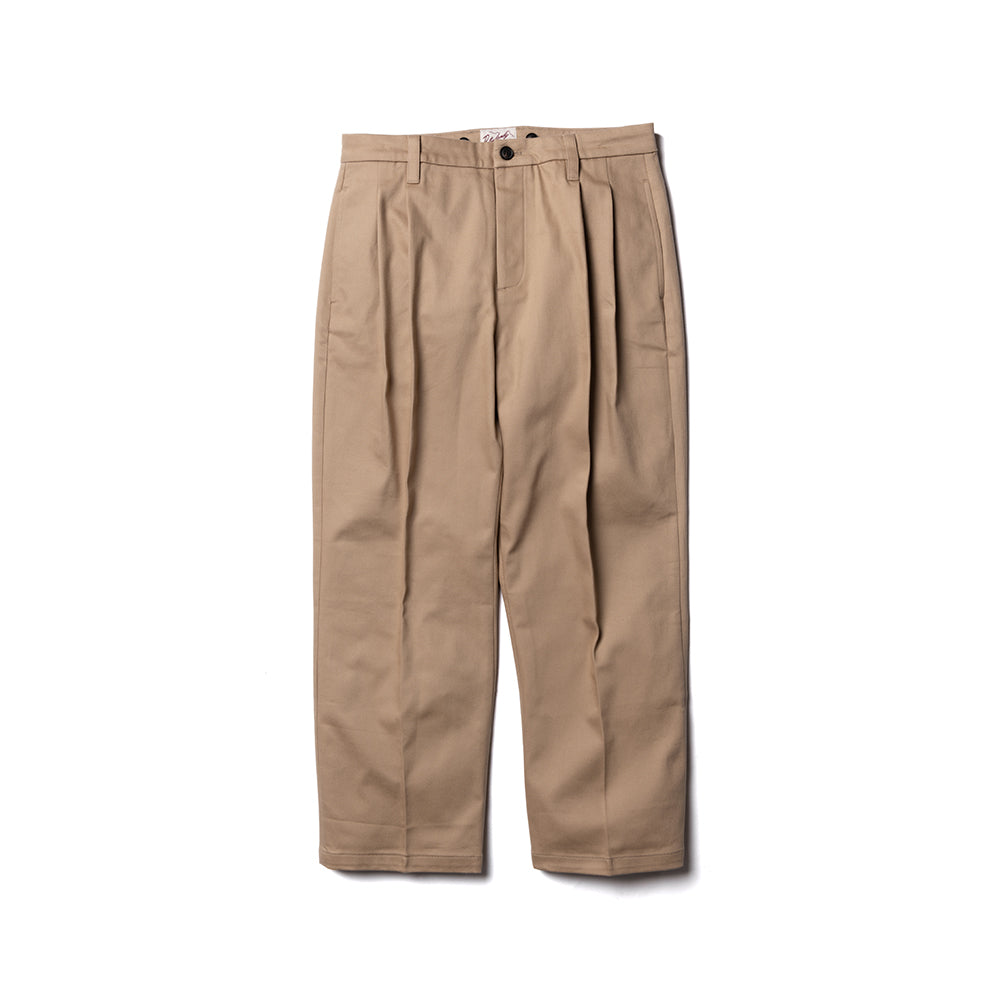 Wide-leg Trousers - Khaki