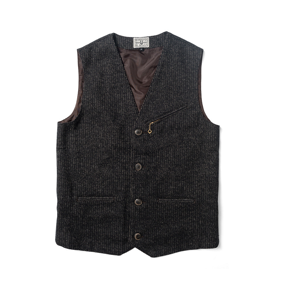 Mr. Swallow Vest - Herringbone