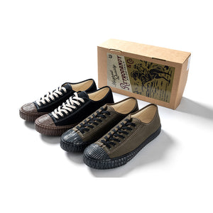 Military HBT Canvas Shoes - Black