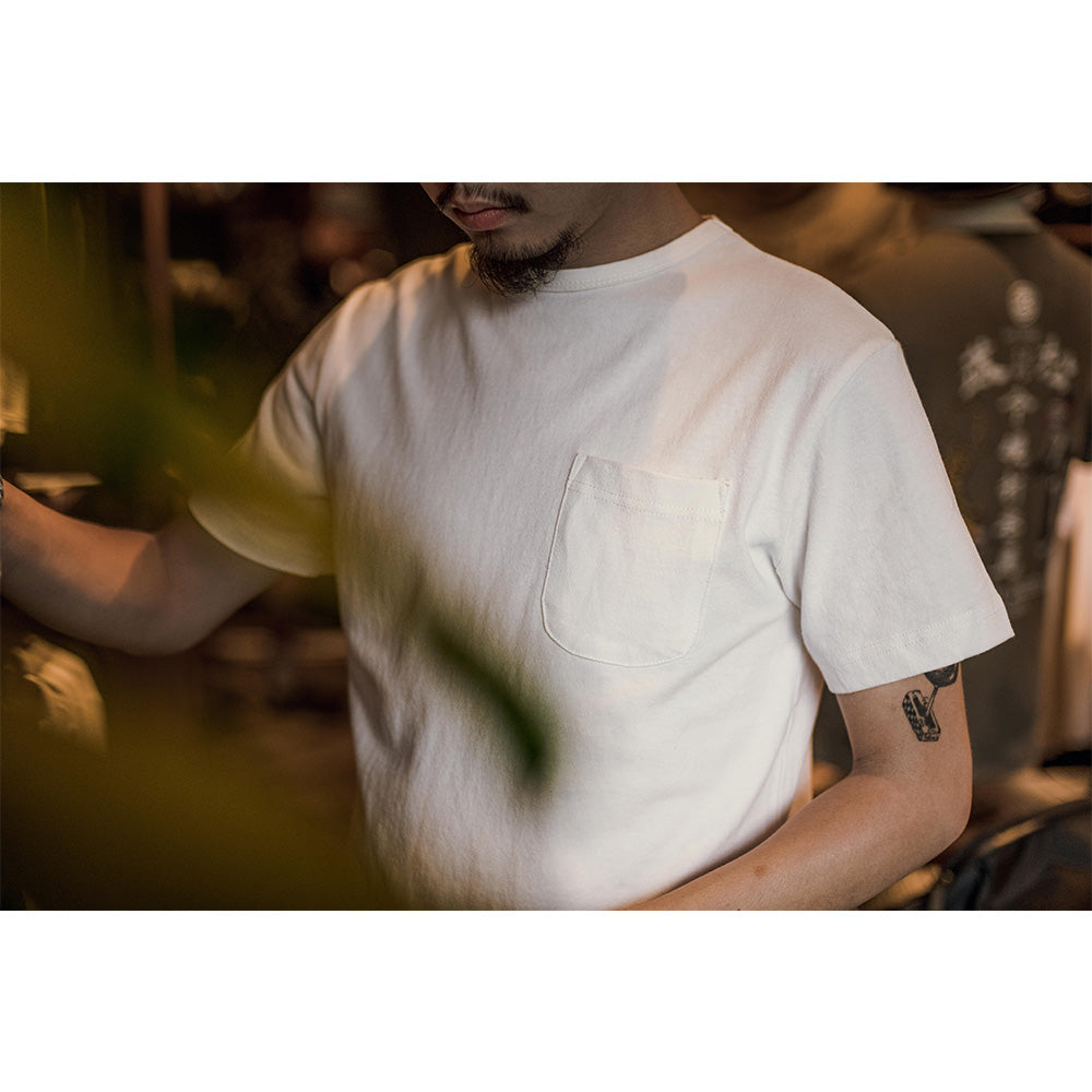 Basic Pocket Tee - Beige