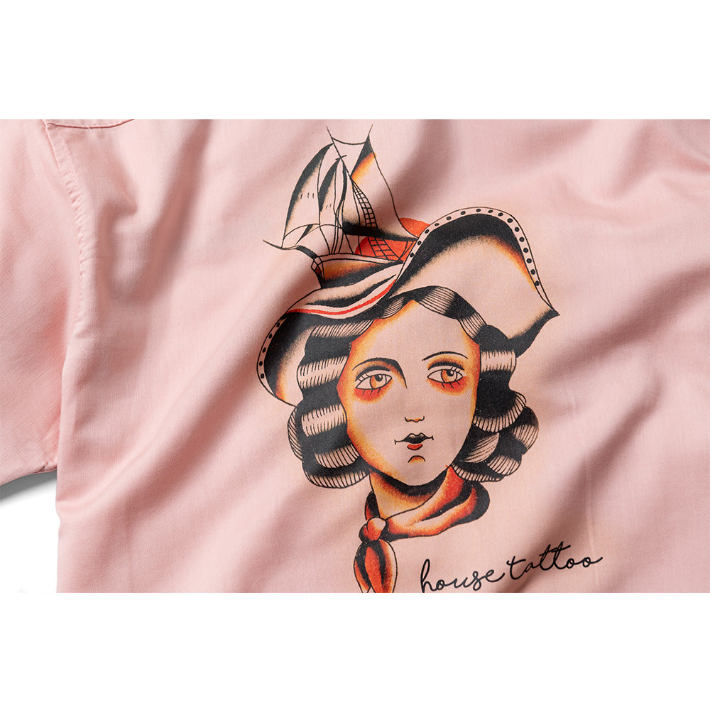 """Pin-up"" Shirt by House Tattoo - Pink"