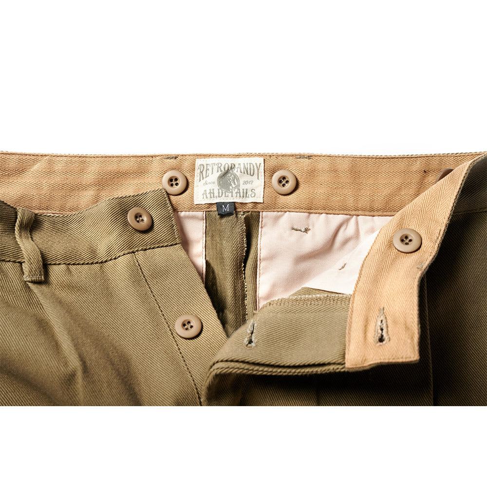Wide-leg Trousers - Olive