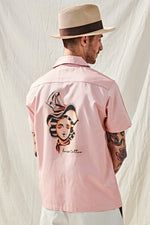 "Load image into Gallery viewer, ""Pin-up"" Shirt by House Tattoo - Pink"