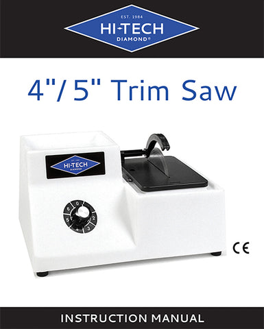 Hi-Tech Diamond 4-inch 5-inch trim saw manual