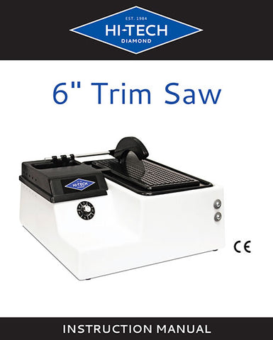 Hi-Tech Diamond 6-inch trim saw manual