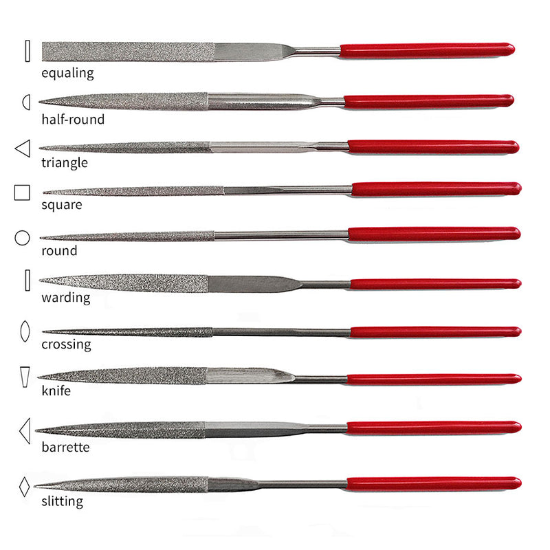 Hi-Tech Diamond 10-piece diamond file set