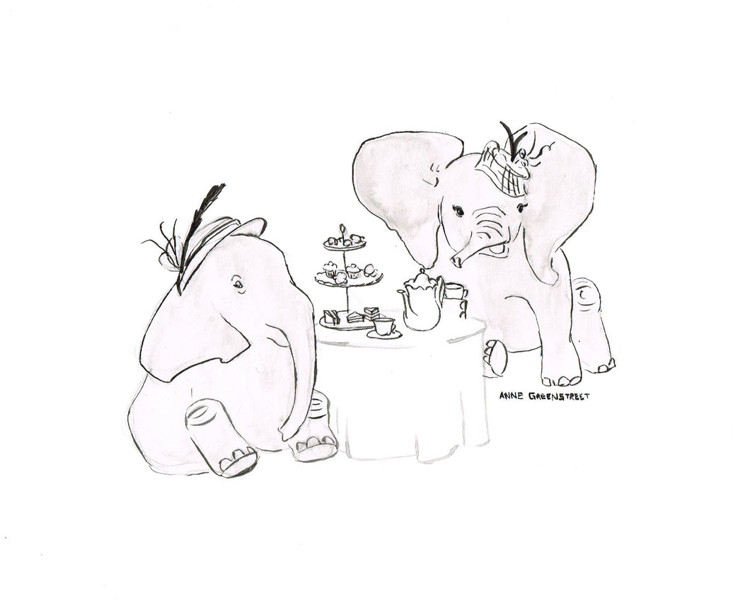 Elephant Tea Party - Print