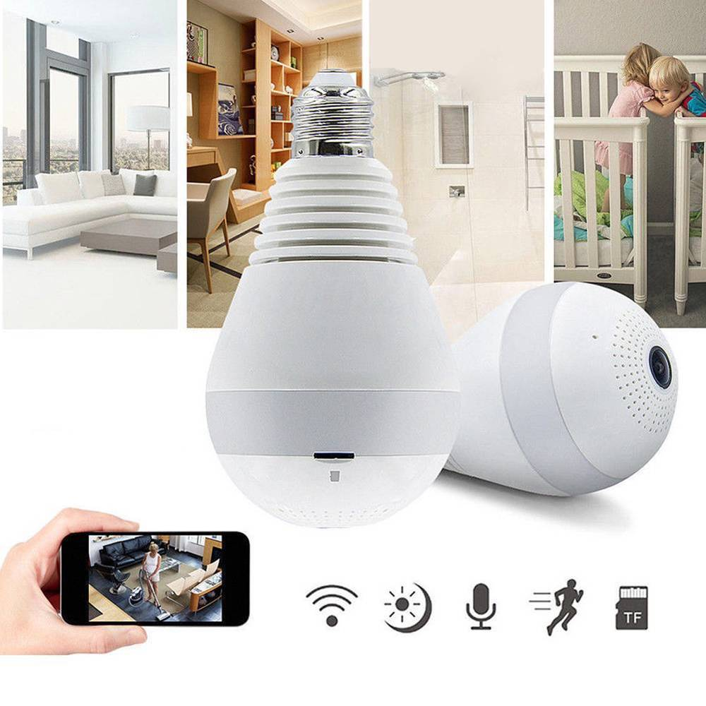 360 DEGREES CCTV BULB CAMERA