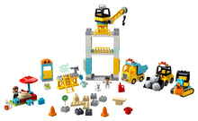 Load image into Gallery viewer, LEGO® DUPLO® Construction Tower Crane & Construction 10933