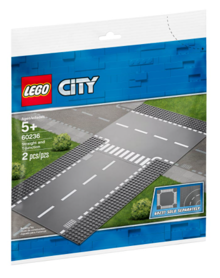 LEGO® City Straight and T-junction 60236