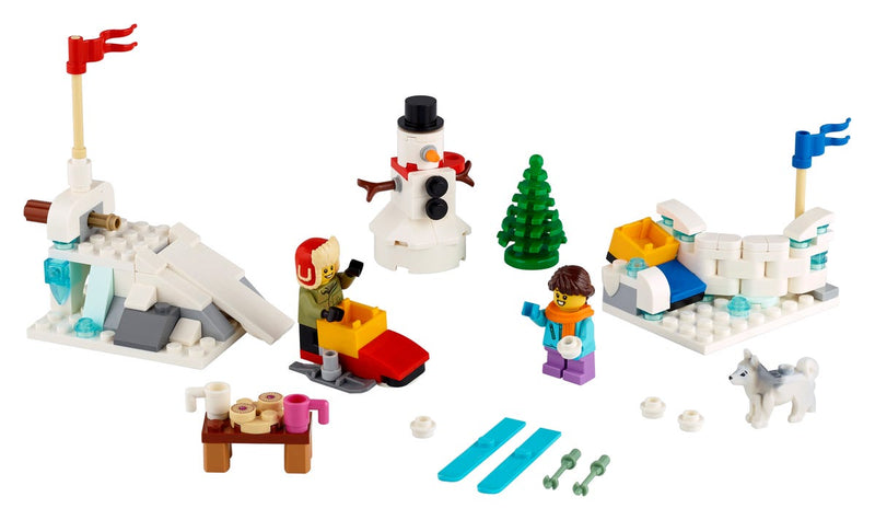 LEGO® Iconic Winter Snowball Fight playset 40424