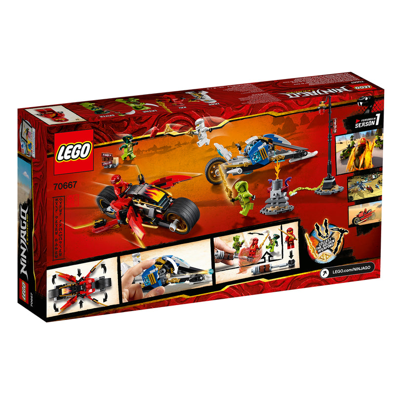 LEGO® NINJAGO® Kai Blade Cycle N Zane Snowmobile 70667