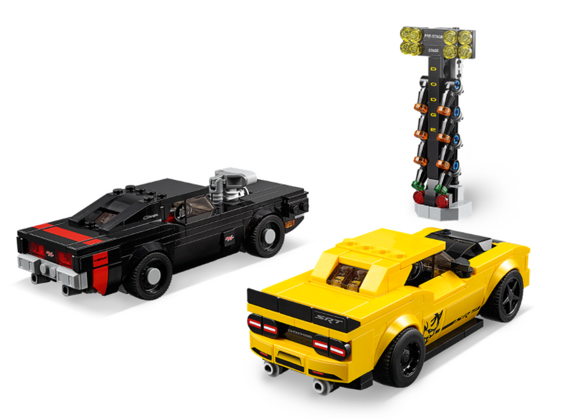 LEGO® Dodge Challenger SRT Demon and 1970 Dodge Charger R/T 75893
