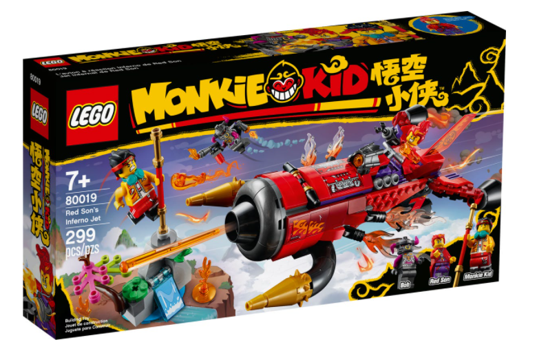 LEGO® Monkie Kid™ Red Son's Inferno Jet 80019