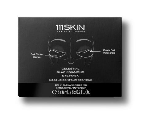 111SKIN   CELESTIAL BLACK DIAMOND EYE MASK - BOX