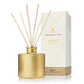 Thymes  FRASIER FIR PETITE GOLD REED DIFFUSER  , 4 fl.oz.