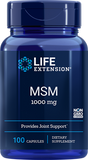 LIFE Extension  MSM 1000 mg  , 100 Capsules