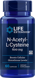 LIFE Extension  N-Acetyl-L-Cysteine 600 mg , 60 Capsules