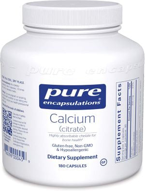 Pure Encapsulations Calcium ( citrate ) , 180 Capsules